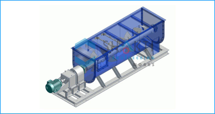 Continuous Paddle Mixer For Heavy Duty Mixing Application